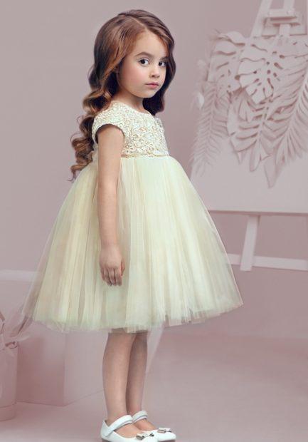 детская мода 2019-2020 для девочек: светлое платье юбка пачка