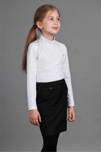 детская мода 2019-2020 для девочек: черная юбка прямая