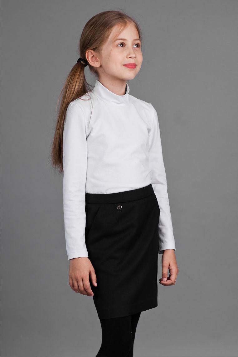 детская мода 2018 для девочек: черная юбка прямая
