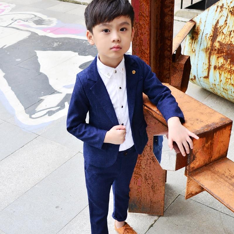 детская мода 2018: синий костюм классический