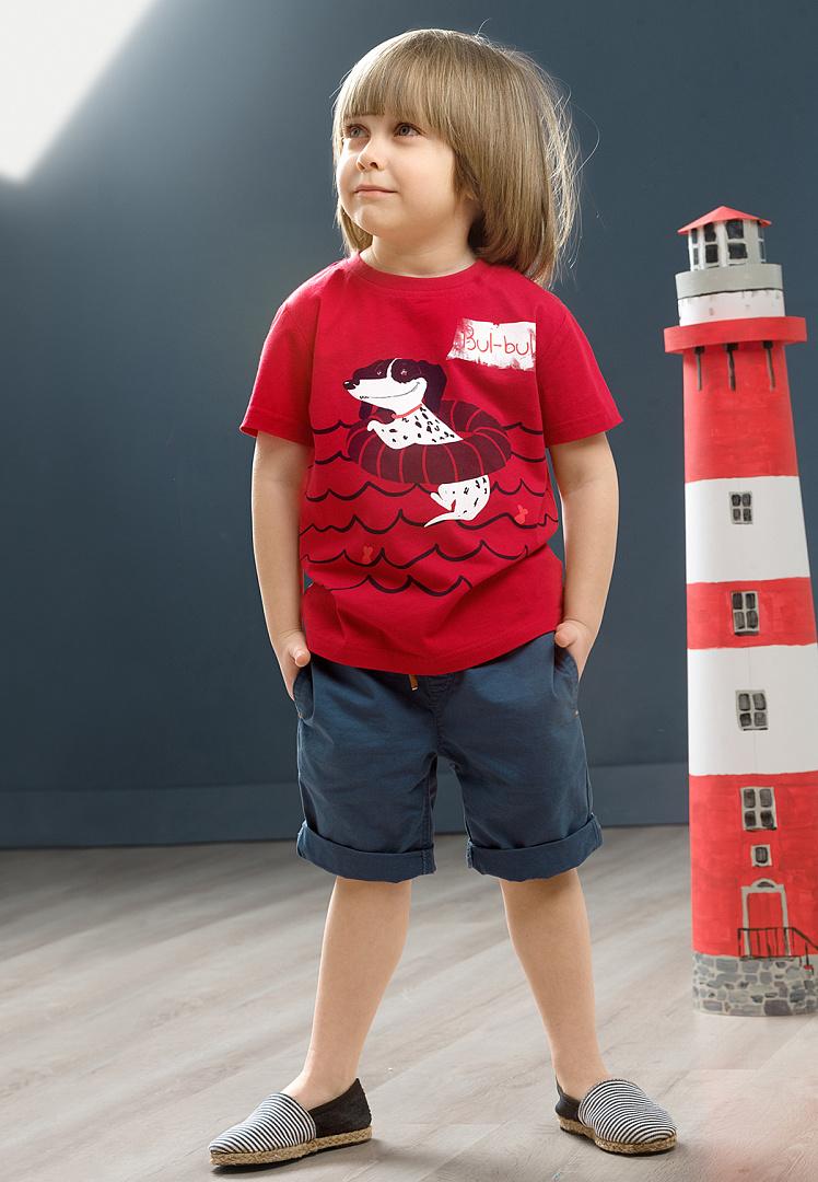 детская мода 2018: красная футболка с рисунком