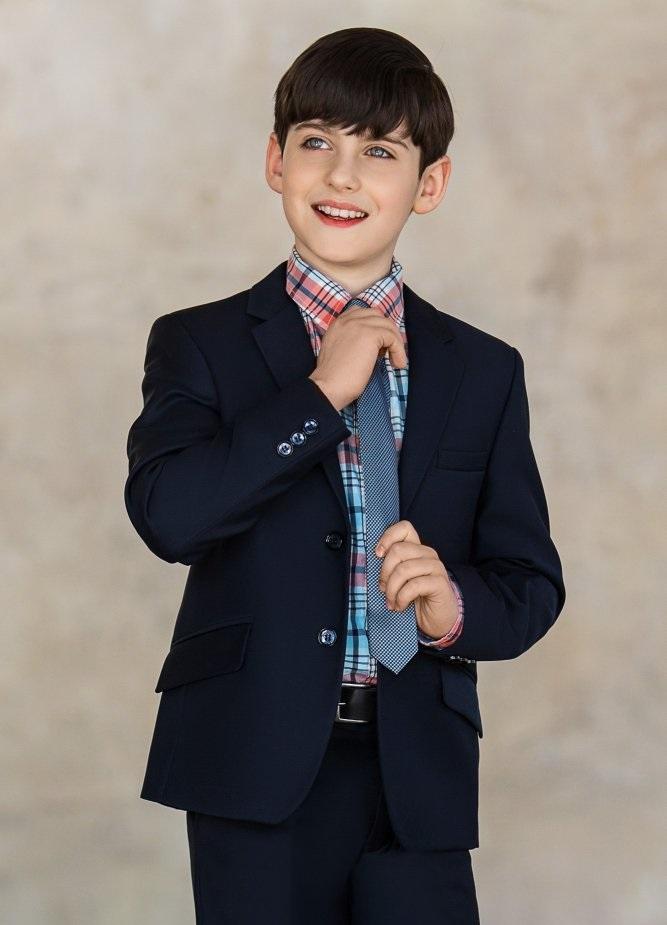 детская мода 2018: костюм темно-синий