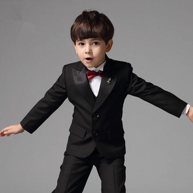 детская мода 2018: костюм черный классика