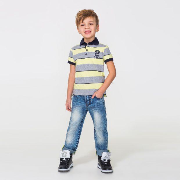 детская мода 2018: светлые джинсы потертые