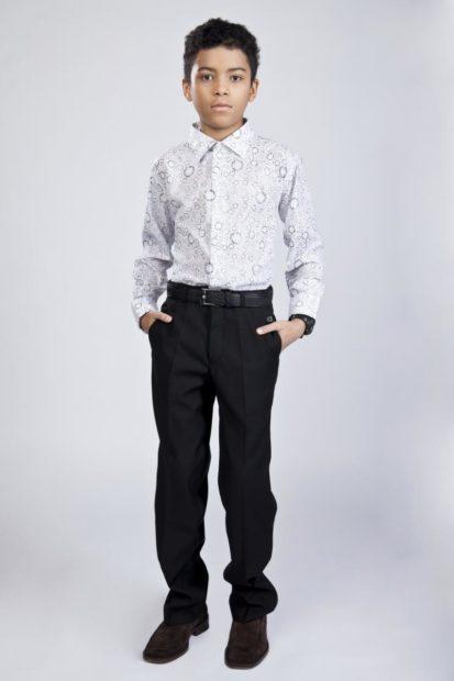 детская мода: брюки черные классика