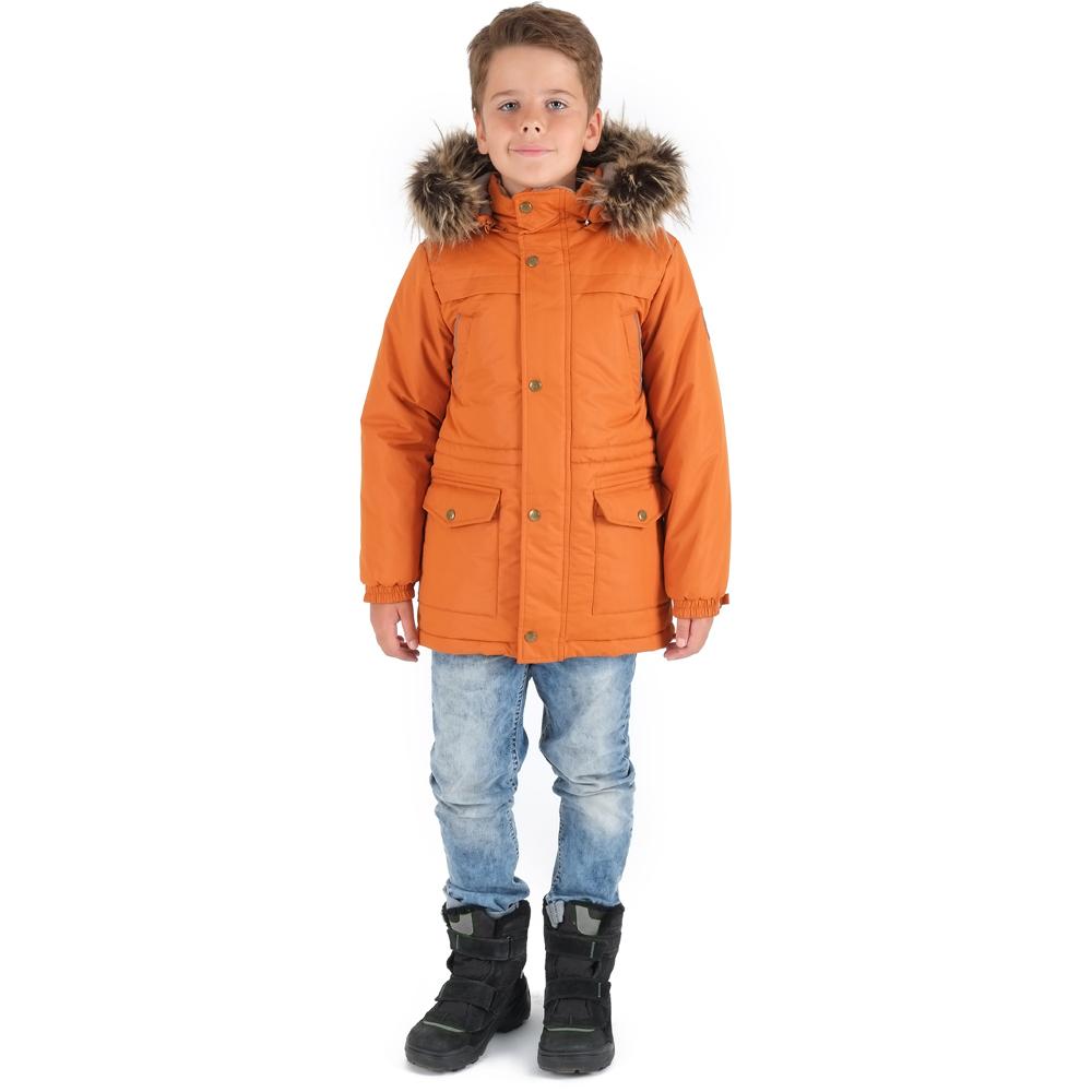 детская мода 2018: оранжевая парка с капюшоном