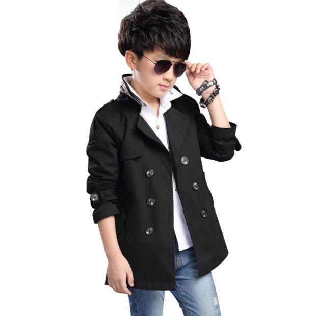 детская мода 2018: пальто классическое черное