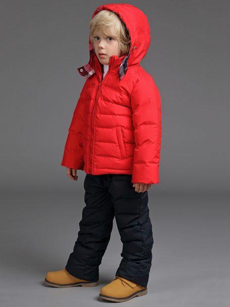 детская мода 2019-2020: красный стеганый пуховик