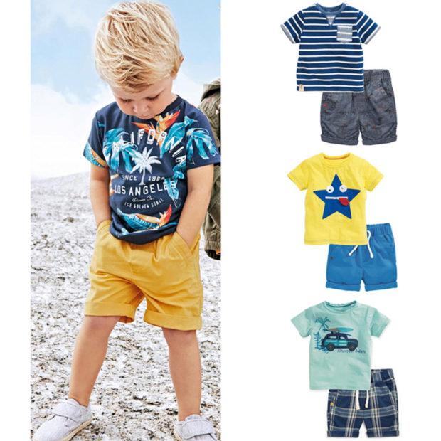 детская мода 2018: комплект футболка шорты