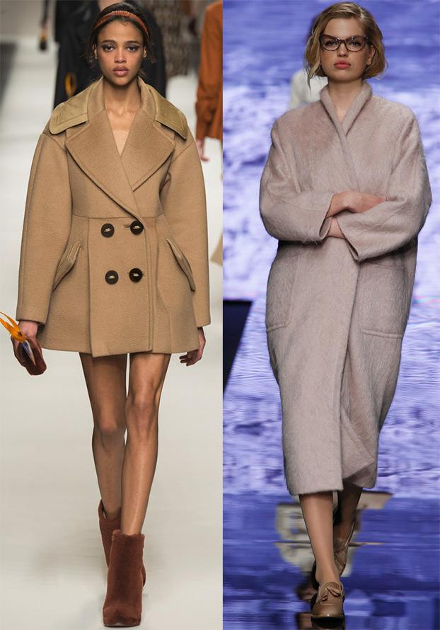 мода 2019-2020 года фото в женской одежде: бежевое пальто двубортное короткое серое оверсайз