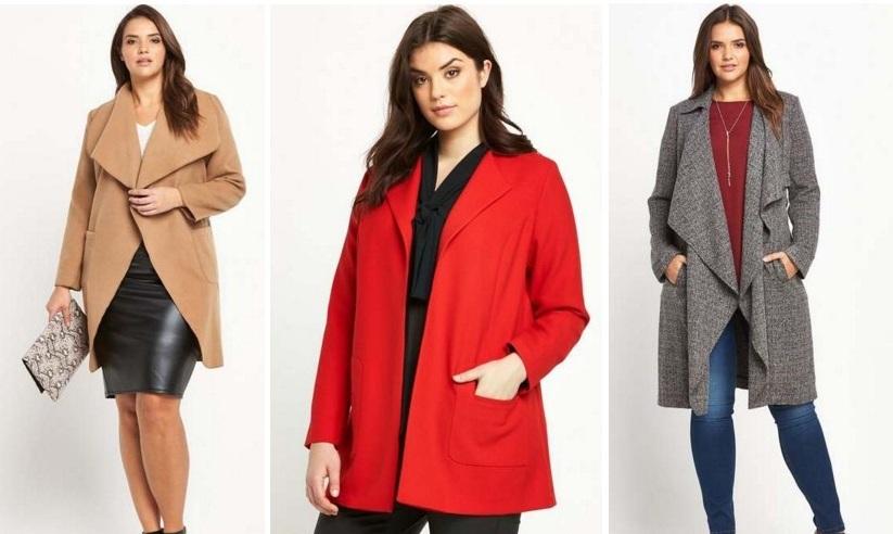мода 2019-2020 года фото в женской одежде: пальто бежевое без застежки красное короткое серое туника