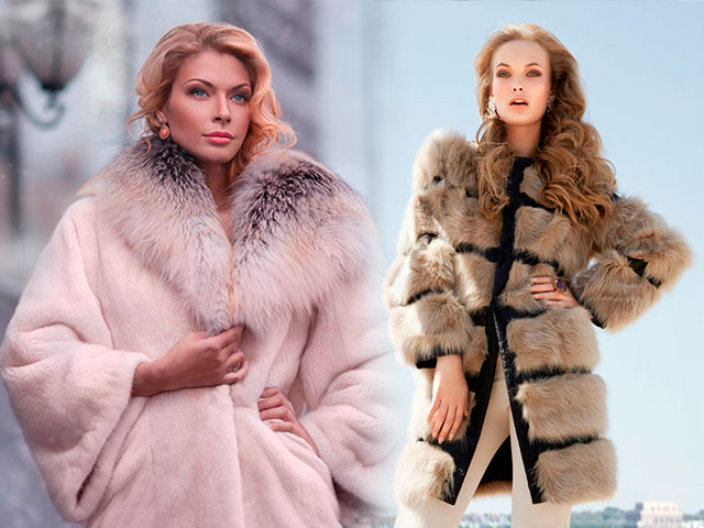 мода 2019-2020 года фото в женской одежде: шуба розовая с меховым воротом коричневая