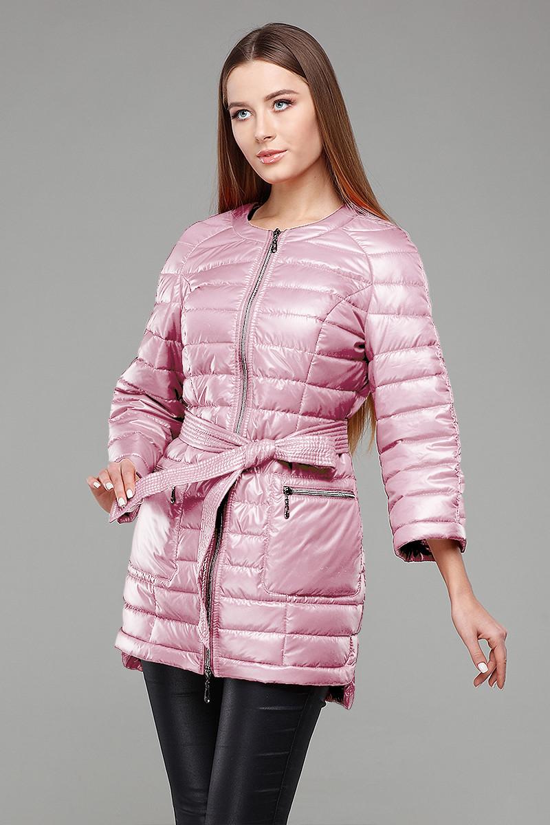 мода весна лето 2018 для женщин после 30: розовая стеганая куртка