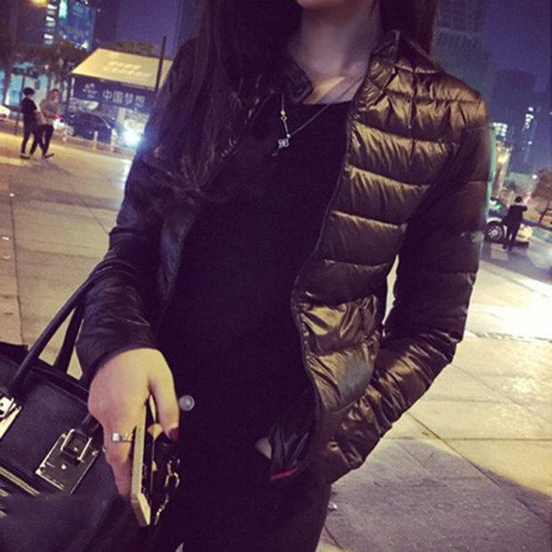 мода весна лето 2018 для женщин 30 лет: черная куртка стеганая