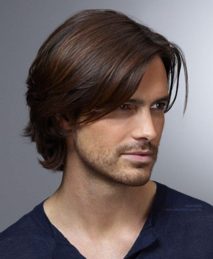 модные стрижки 2018 2019 мужские: боб на среднюю длину волос без челки