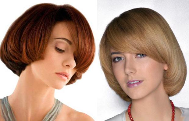 модные стрижки: паж на среднюю длину волос с косой челкой