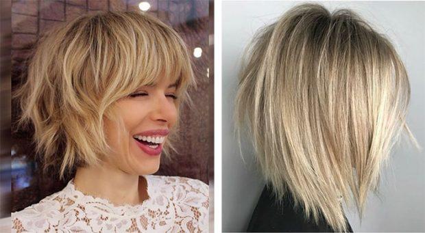 модные стрижки 2018 2019 года: рваные на среднюю длину волос